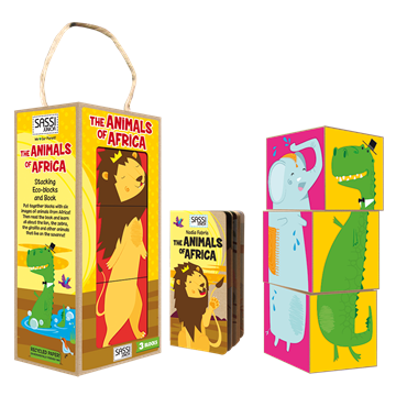 Слика на Forest Animals Stacking Eco-Blocks and Book