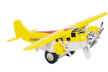 Слика на Airplane, die-cast, L= 14 cm (Yellow)