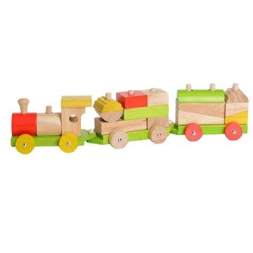 Слика на Воз од дрво со форми за сортирање