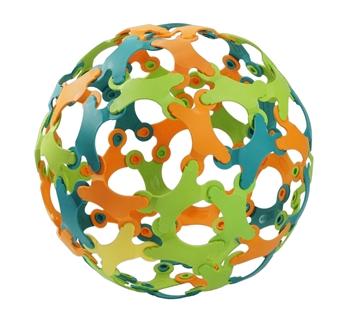 Слика на Binabo - сет за креативно играње - 60 парчиња - 4 бои
