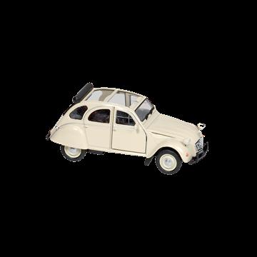 Слика на Citroen 2CV  cream, open roof (1979), die-cast, 1:34-39, 11,7 cm