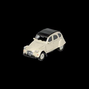 Слика на Citroen 2CV  cream, (1979), die-cast, 1:34-39, 11,7 cm