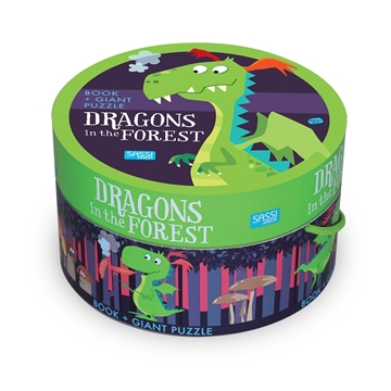Слика на Dragons in the Forest - Book and Giant Puzzle