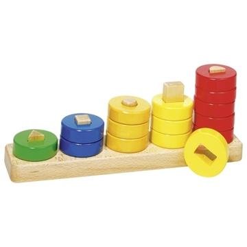 Слика на Игра - Научи да броиш од 1 до 5 со дрвени прстени