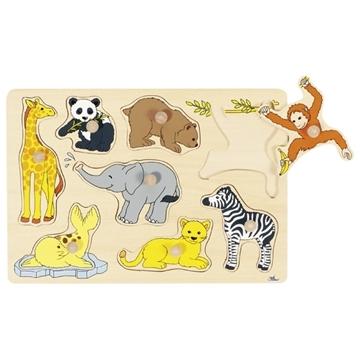 Слика на Младенчиња на диви животни - Сложувалка со дршки