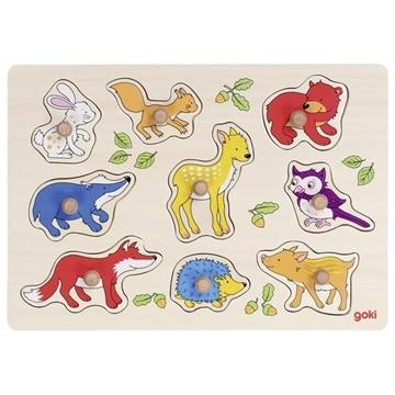 Слика на Шумски животни - Сложувалка со дршки