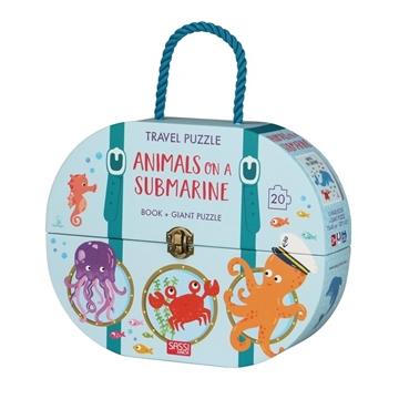 Слика на Animals on a Submarine - Book + Giant Puzzle