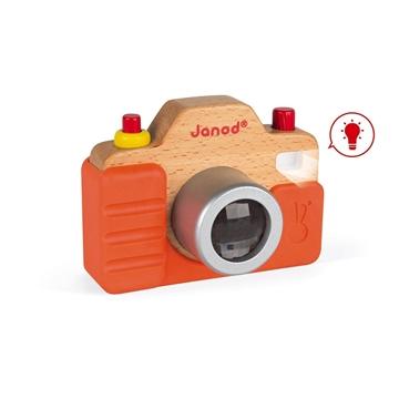 Слика на Дрвен фотоапарат со звуци и блиц