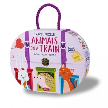Слика на Animals on a Train - Book + Giant Puzzle