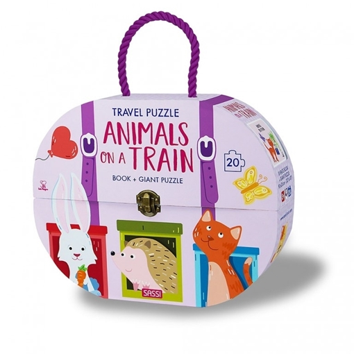 Слика на Animals on a Train - Book + Giant Puzzle
