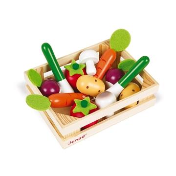 Слика на 12 Зеленчуци од дрво во гајбичка - Janod