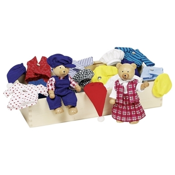 Слика на Кукли од дрво  - Мечиња за облекување Бена и Бенох (Флексибилни)