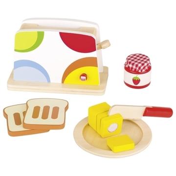 Слика на Goki - Дрвена играчка тостер