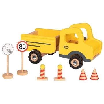 Слика на Градежен камион со сообраќајни знаци - Goki