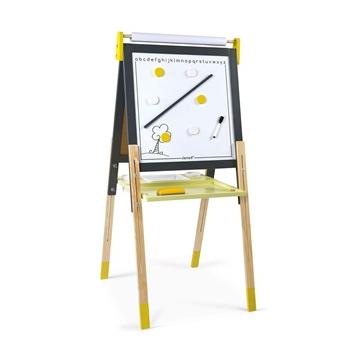 Слика на Двострана табла со прилагодлива висина жолто/сива - Janod