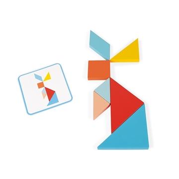 Слика на Играчка од дрво ТАНГРАМ - Janod