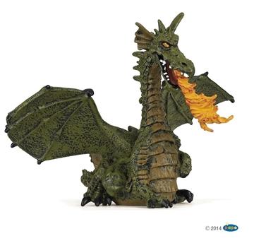 Слика на Зелен змеј со пламен