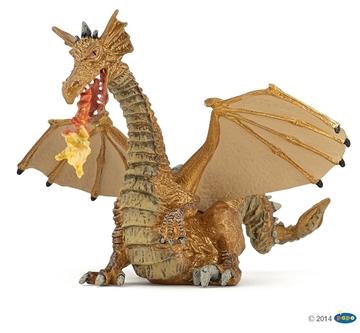Слика на Златен змеј со пламен