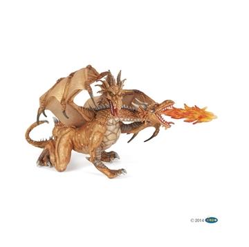 Слика на Двоглав змеј - златен