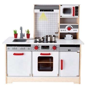 Слика на Дрвена кујна со додатоци (Hape Е3145)