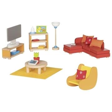 Слика на Мебел за куќичка за кукли - Дневен престој - Goki