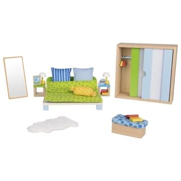 Слика на Мебел за куќичка за кукли - Спална соба - Goki