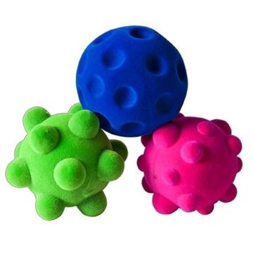 Слика на Комплет од 3 мини сензорни топки - Rubbabu (Возраст 2 г+)